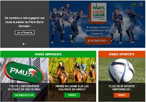 Portail du site PMU pour les paris sportifs