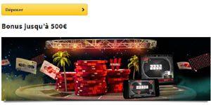 Winamax offre des bonus retirables à hauteur de 500€