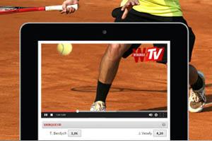 La chaine Winamax TV permet de voir et de parier sur les matches de foot en direct live